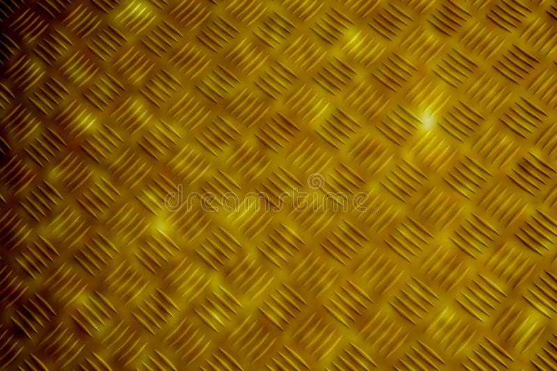 Gold pattern style of brass plate stock image