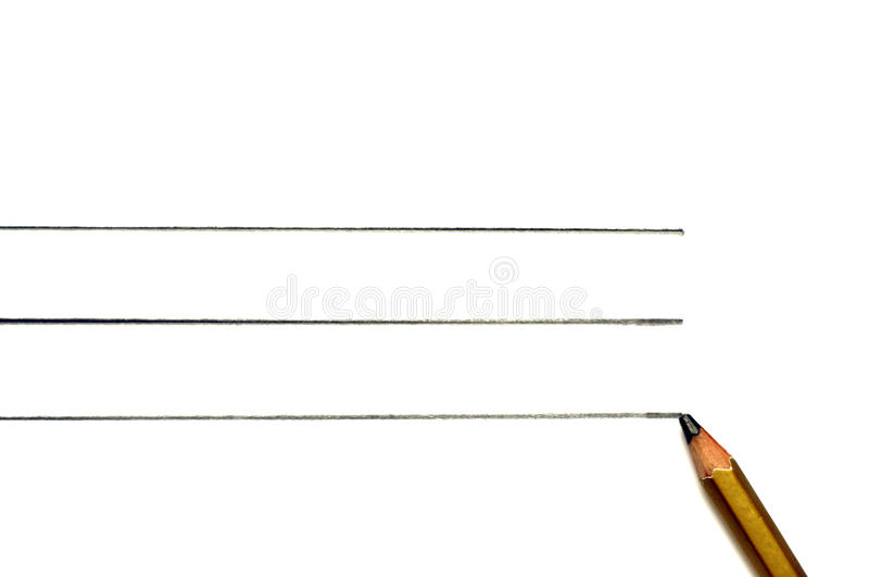 Gold Pencil isolated on pure white background with line royalty free stock photos