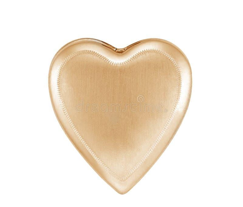 Gold pendant heart isolated stock photo