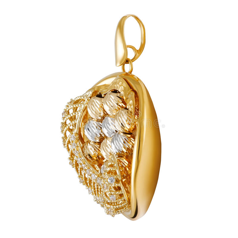 Gold pendant stock image. Image of wealth, pendant, luxurious ...