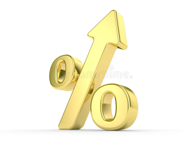 Download Gold percentage symbol stock illustration. Image of gold - 11080913
