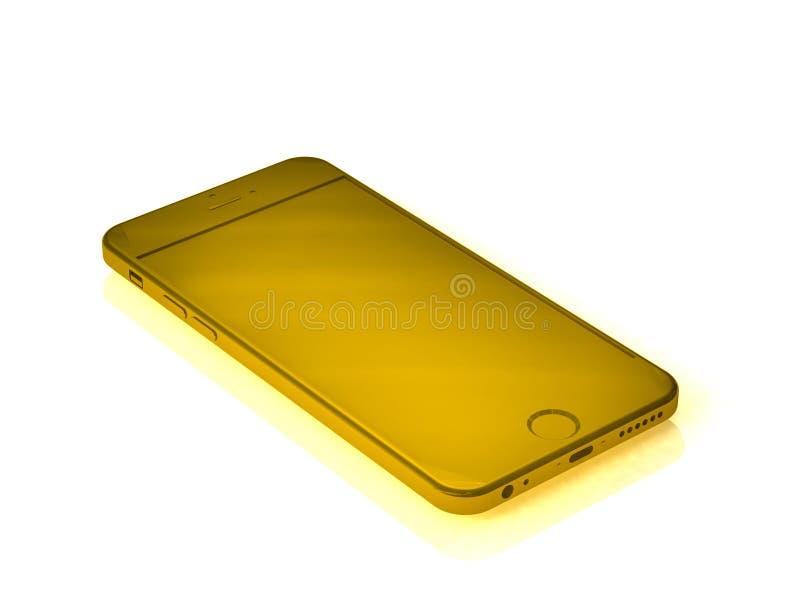 Isolated yellow telephone royalty free stock image