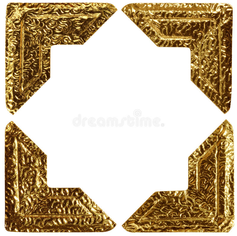 Free Gold Photo Corners Royalty Free Stock Photos - 19062448