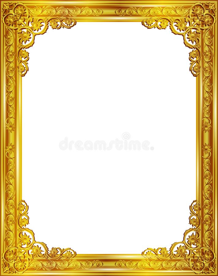 Gold Frame Border Design Plain Frame Material Gold Border Throughout ...