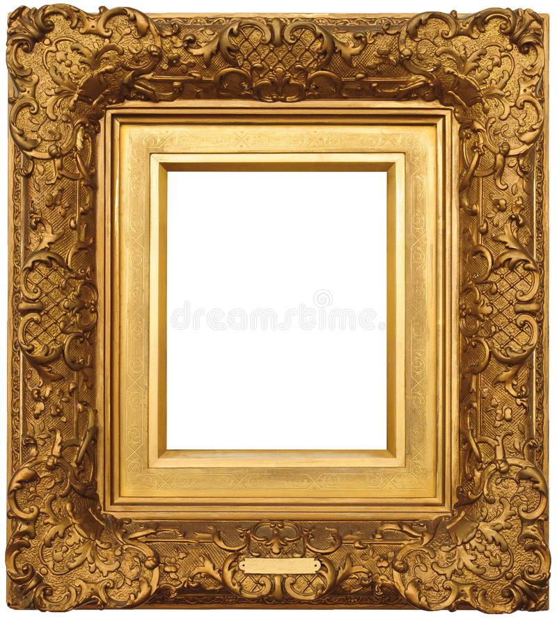 Free Gold Picture Frame Stock Photography - 21140632