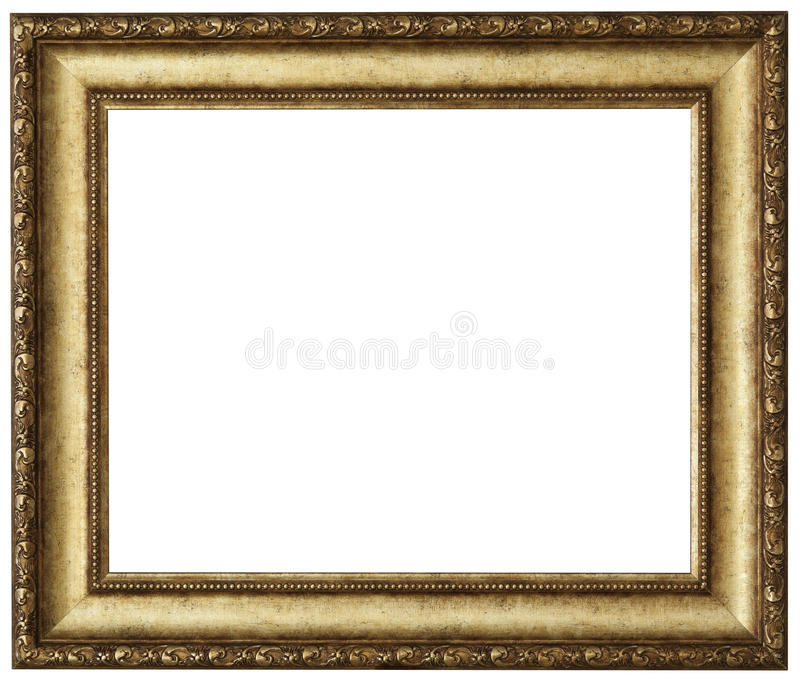 Download Gold picture frame stock photo. Image of object, antique - 28501250