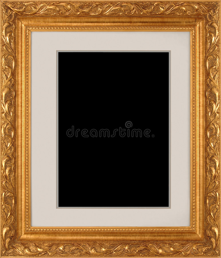 Download Gold Picture Frame stock photo. Image of ornamental, border - 5839386