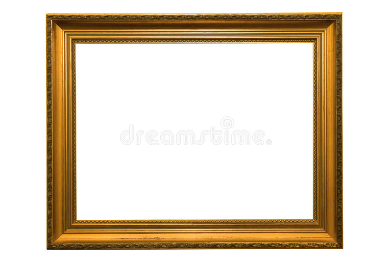 Gold picture frame stock photos