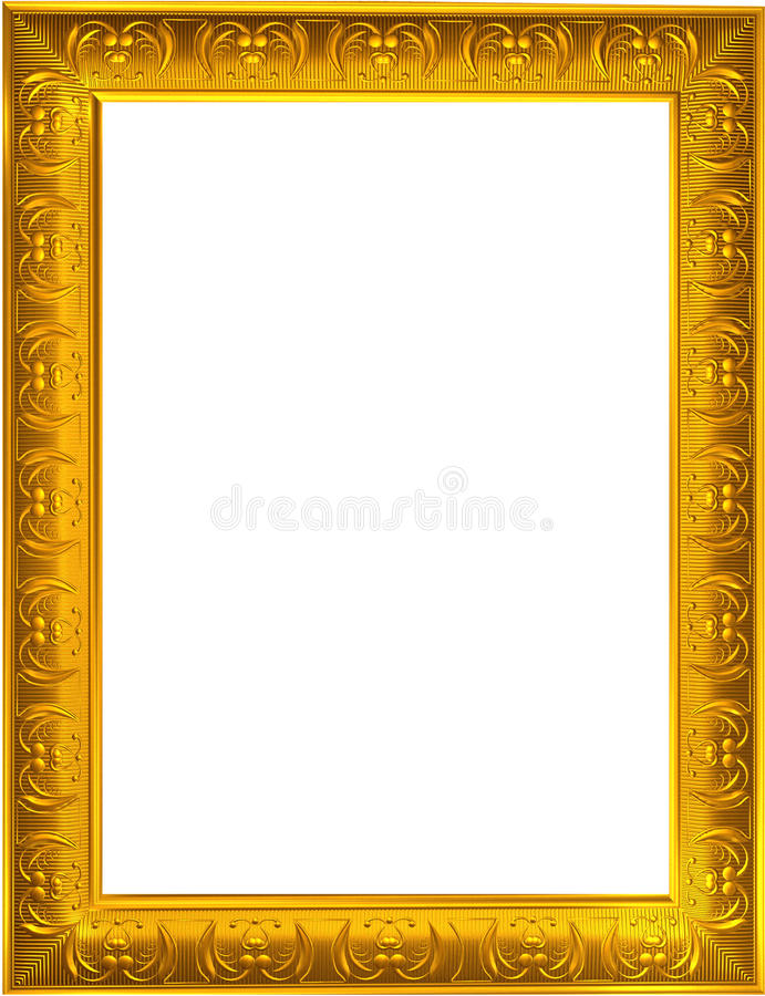 Download Gold picture frame stock photo. Image of border, borders - 9981118