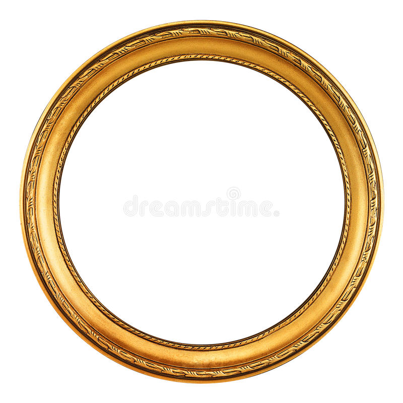 Gold Picture Frame - clipping path stock photos