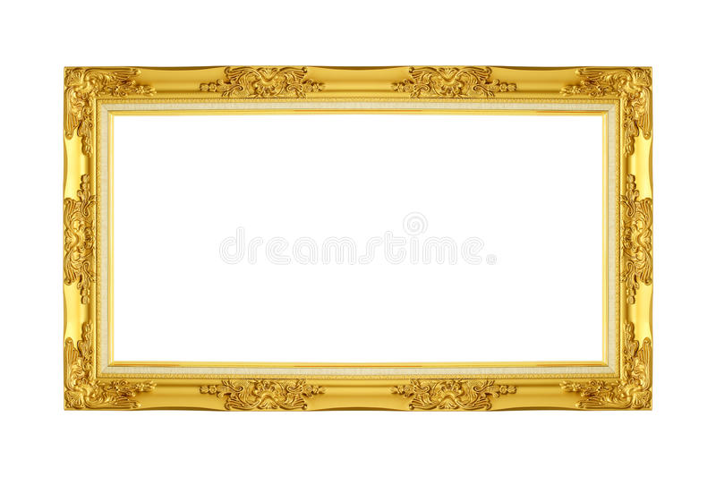 Gold picture frame. stock images