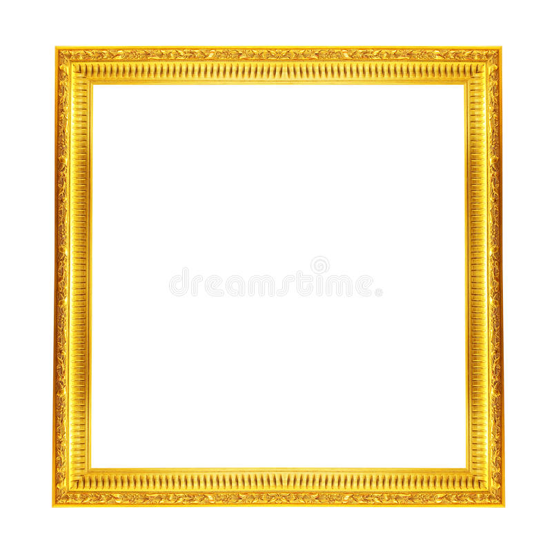 Gold picture frame. royalty free stock photography