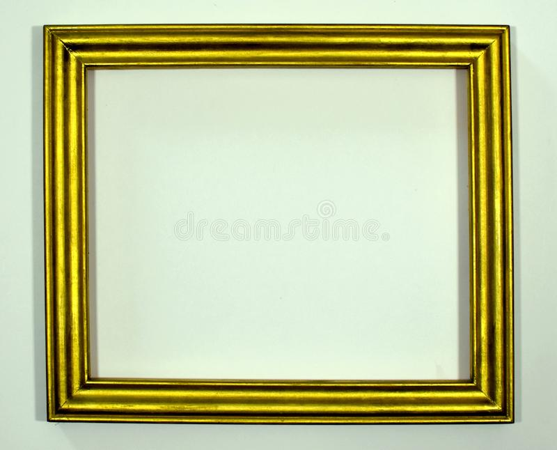 Gold picture frame. Retro. royalty free stock photo