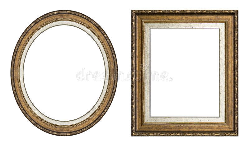 Gold picture frames royalty free stock photography