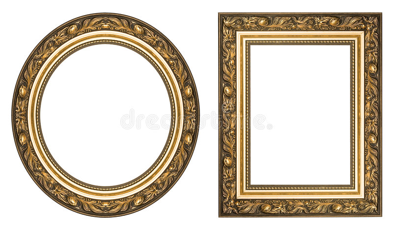 Gold picture frames royalty free stock image
