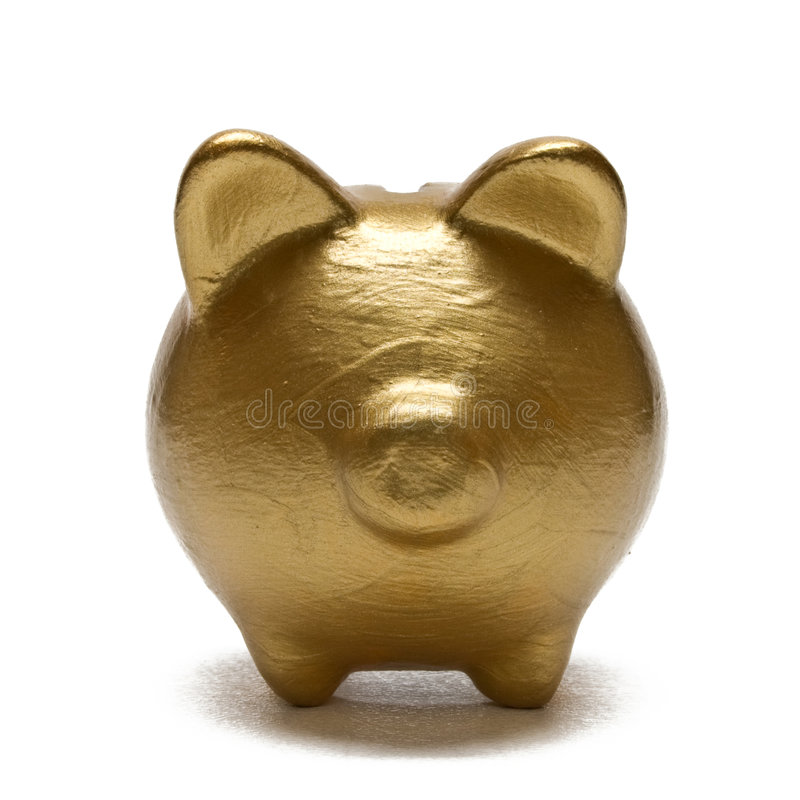 Download Gold Piggy Bank Royalty Free Stock Images - Image: 7551759