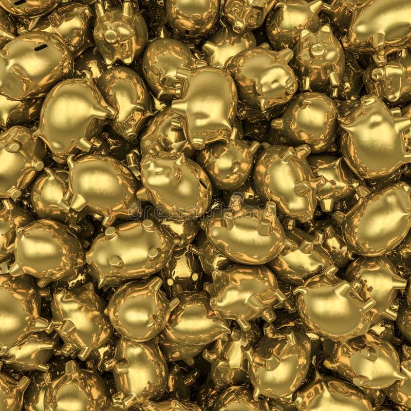 Download Gold piggybanks stock illustration. Image of financial - 27974946