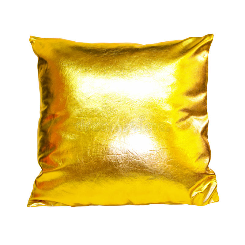 Gold Pillow Stock Photography