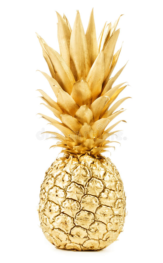 Gold pineapple royalty free stock photography