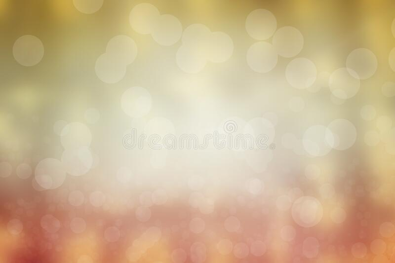 Gold and pink abstract bokeh lights stock photography