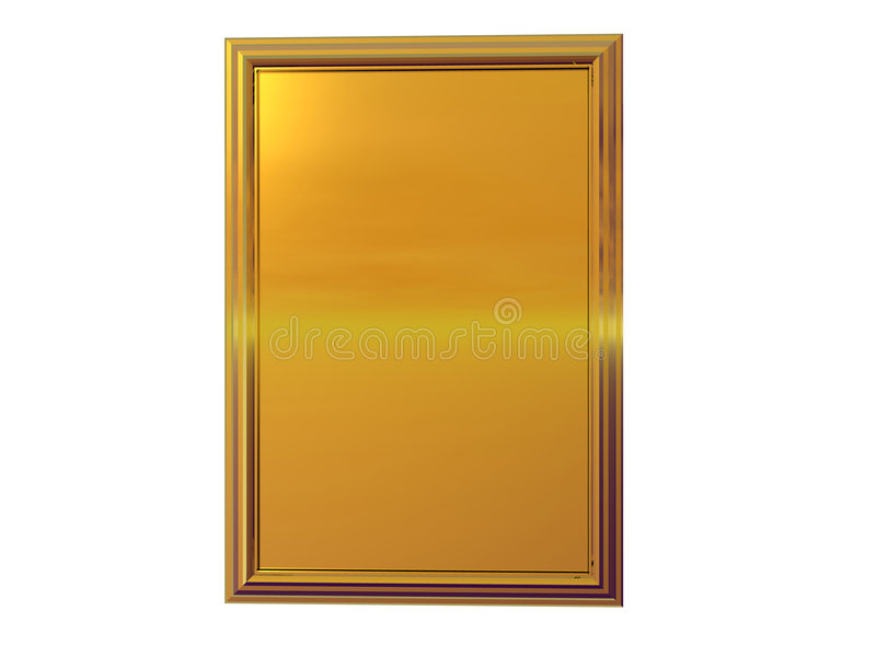Gold Plaque vector illustration