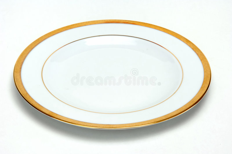 Gold plate royalty free stock photo