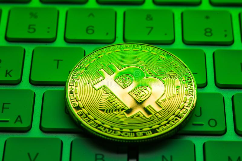 Investing And Stock Mining Bitcoin Market Concept Gain And