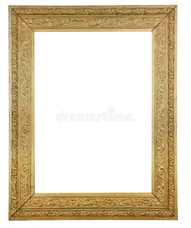 Download Gold Plated Wooden Picture Royalty Free Stock Photos - Image: 8369928