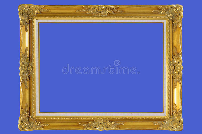 Download Gold Plated Wooden Picture Frame Stock Photo - Image: 10180382