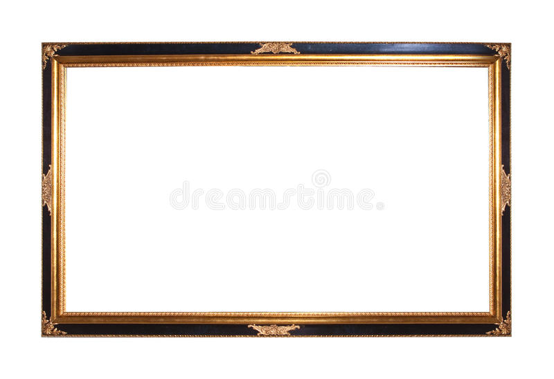Download Gold Plated Wooden Picture Frame Stock Image - Image: 14734695