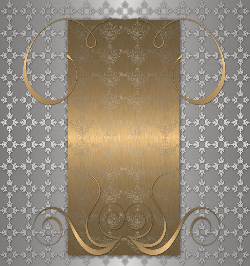 gold with platinum vintage royalty free illustration