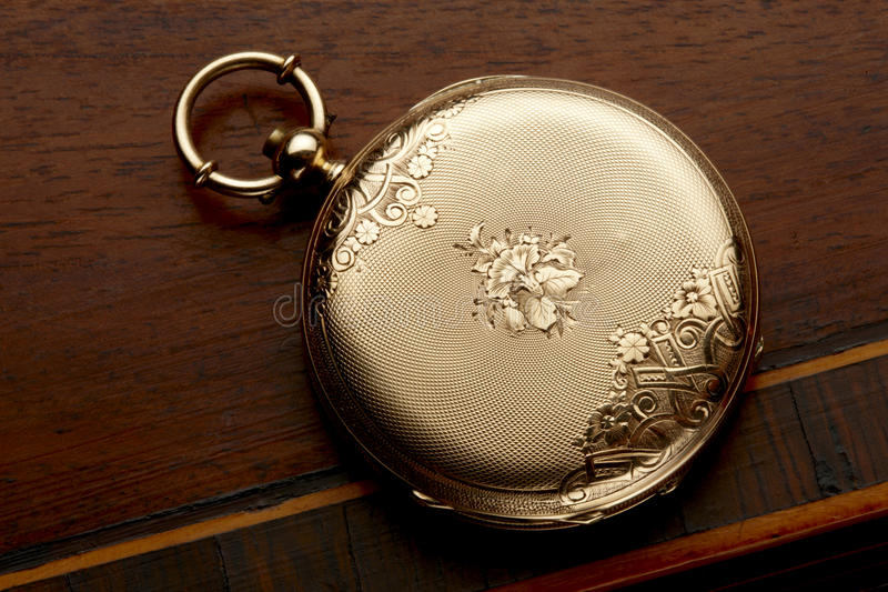 Download Gold pocket watch stock photo. Image of watch, case, clock - 15499658