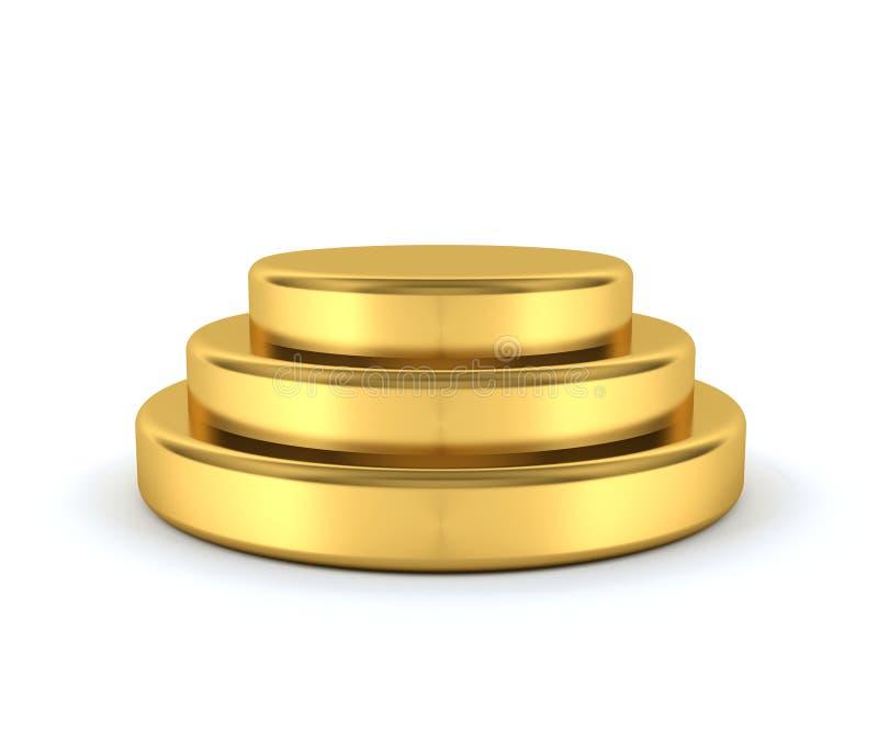 Download Gold podium stock illustration. Image of podium, achievement - 36690520