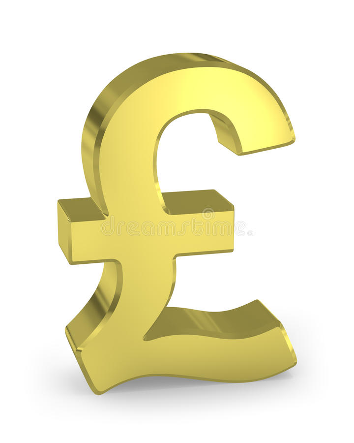 Free Gold Pound Sign Royalty Free Stock Photography - 15029537
