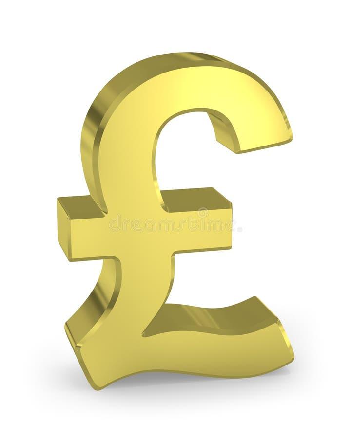 Gold pound sign vector illustration