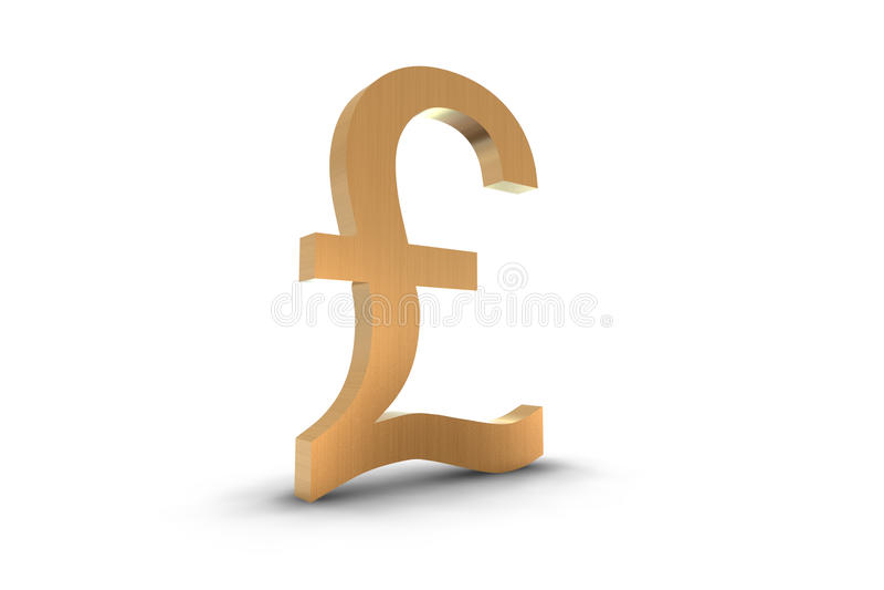 Gold Pound Symbol stock illustration
