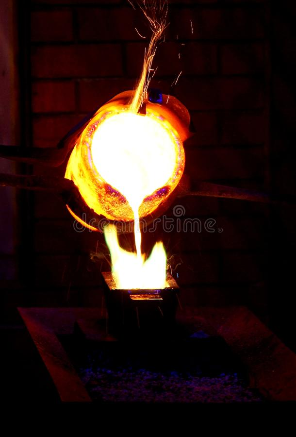 Download Gold Pouring stock photo. Image of melted, foundry, manufacturing - 20923418