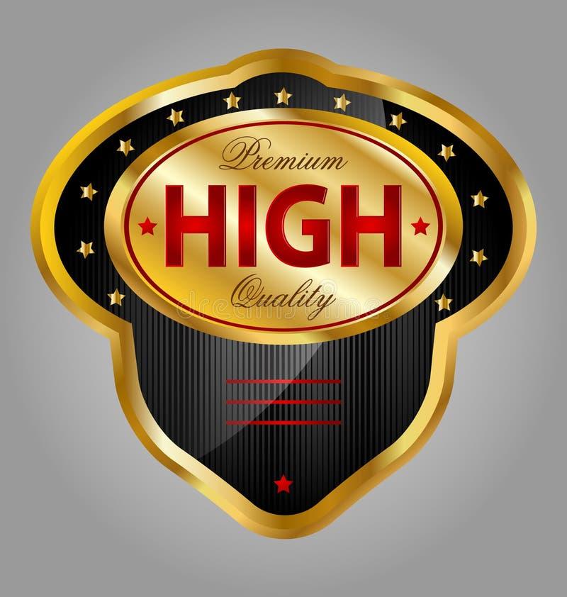 Download Gold Premium Quality Product Label Stock Illustration - Illustration of jewelry, symbol: 29233888