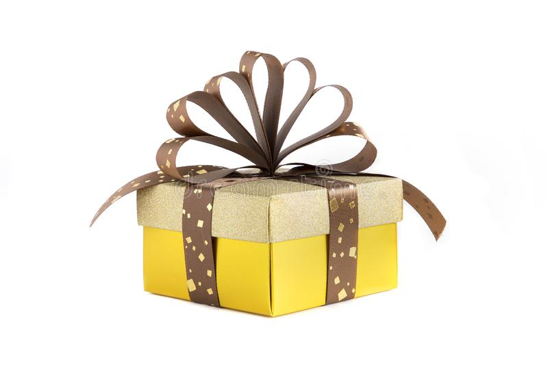 A Gold Present Box stock photography