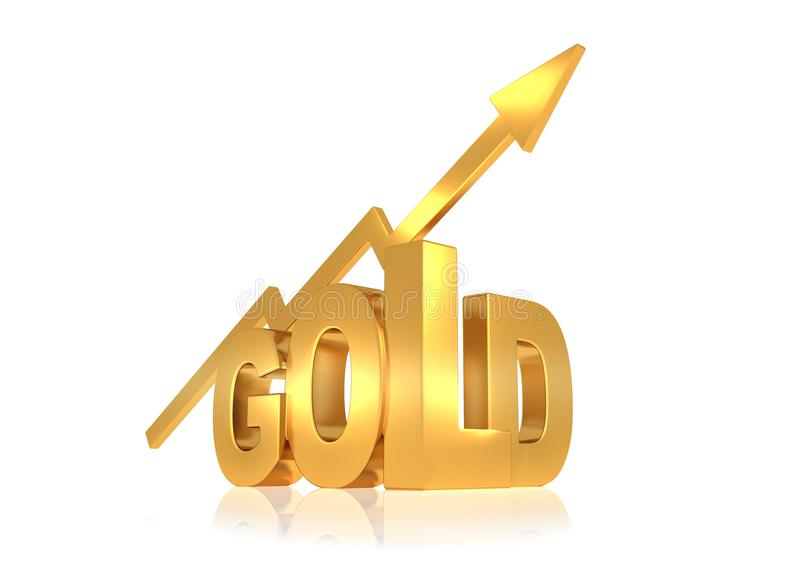 Gold price up stock illustration illustration of arrow 109408471 3d rendering of gold letters with rising arrow symbolizing increasing gold price thecheapjerseys Image collections