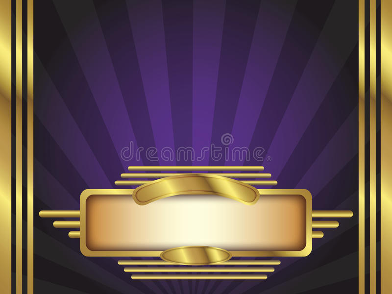 Gold and Purple Art Deco Style Vector Background vector illustration