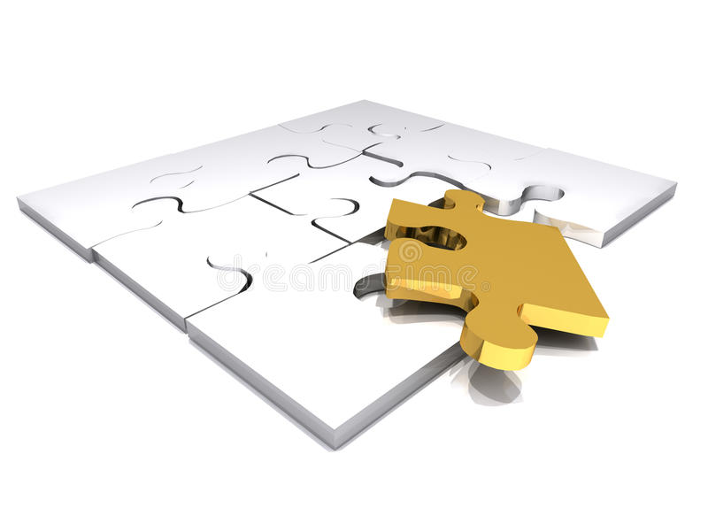 Download Gold puzzle stock illustration. Image of challenge, concepts - 13328470