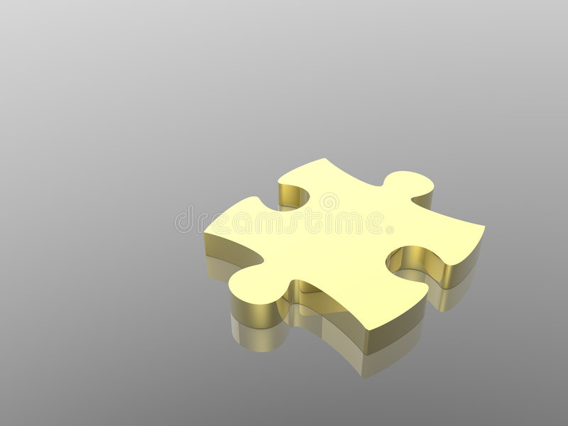Gold puzzle. Puzzle concept (see more in my portfolio stock illustration