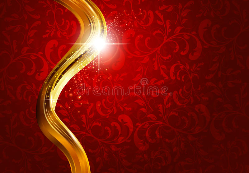 Download Gold And Red Abstract Background Stock Vector - Image: 21664155