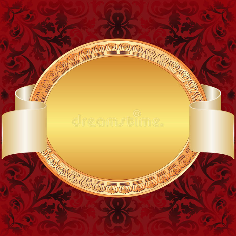 Download Gold red background stock vector. Image of blank, frame - 26914372