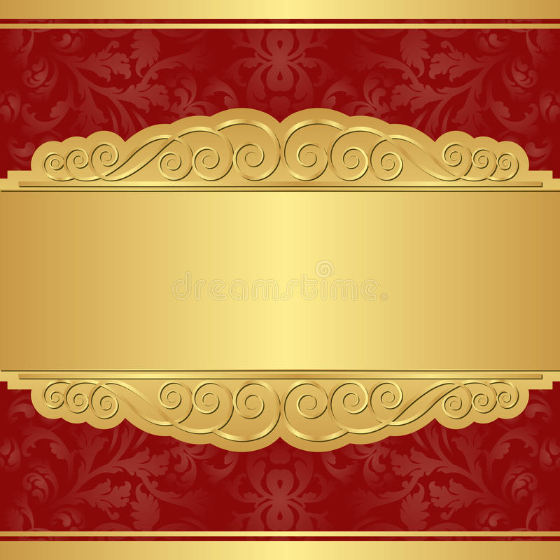 Download Gold and red background stock vector. Image of golden - 28472608
