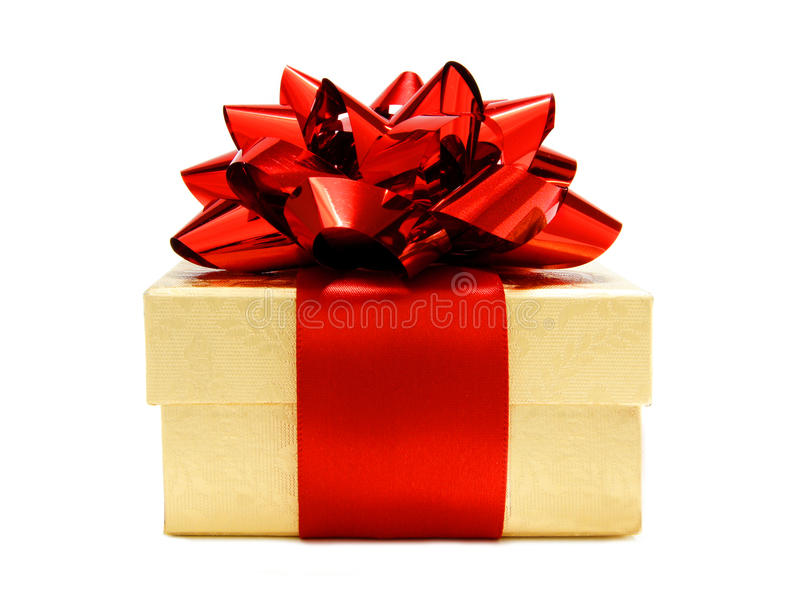 Download Gold And Red Christmas Gift Stock Photo - Image: 22109796