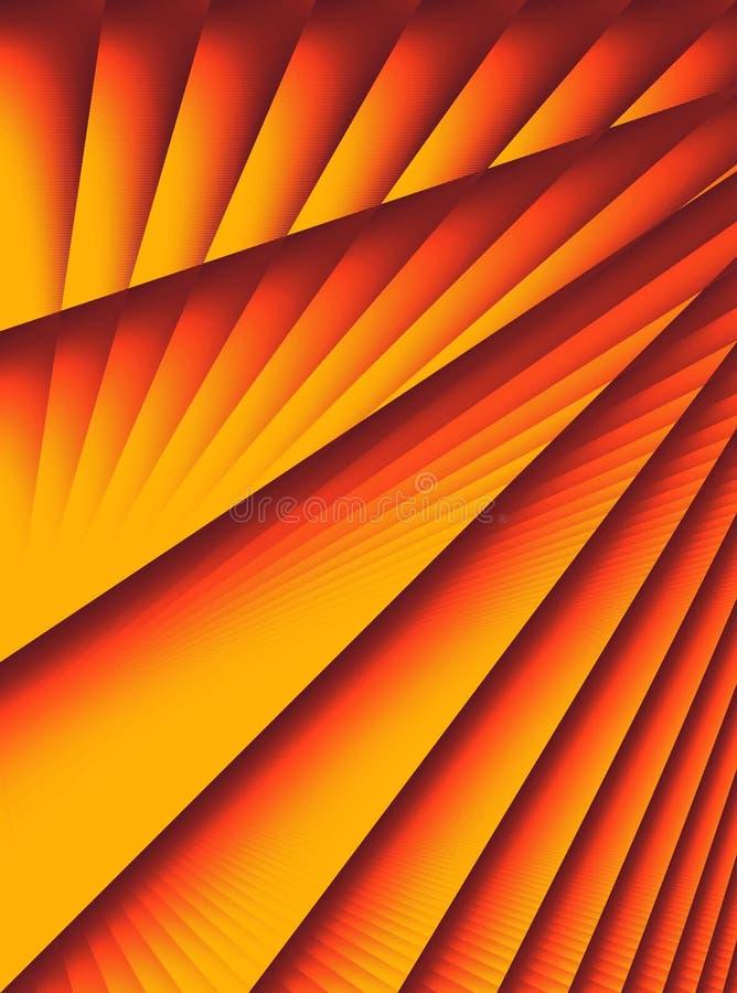 Gold Red Diagonal Lines Stripe vector illustration