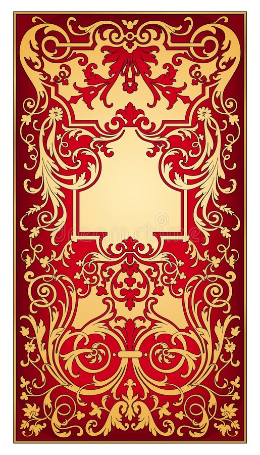 Download Gold And Red Eastern Ornament  Vector Stock Vector - Illustration: 9046552