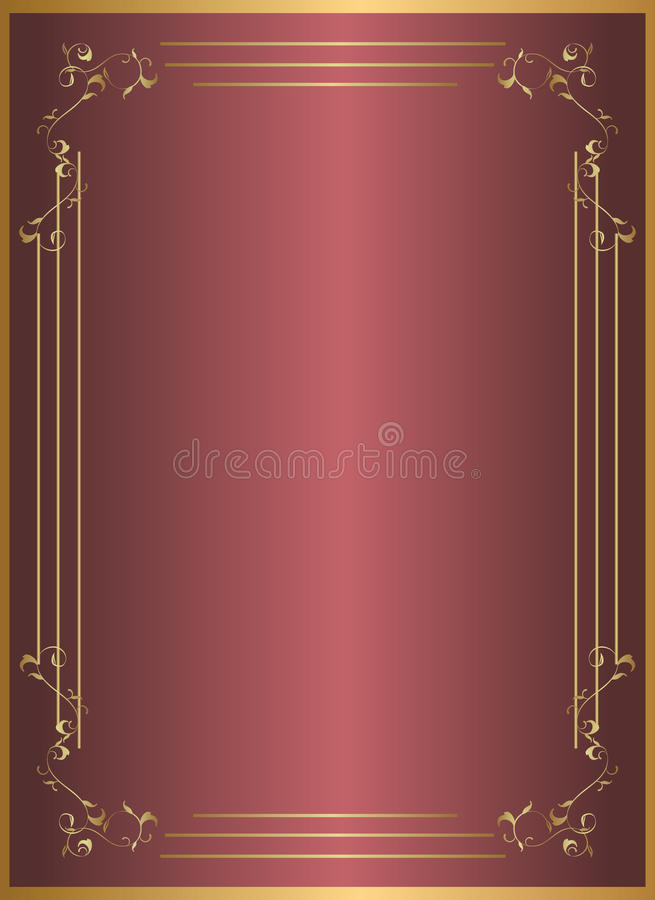 Gold red frame royalty free stock image